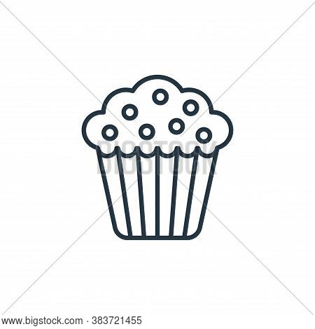 muffin icon isolated on white background from bakery collection. muffin icon trendy and modern muffi