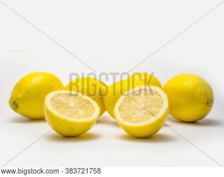 Lemon Isolated On White Background.  Lemon Isolated On White Background.