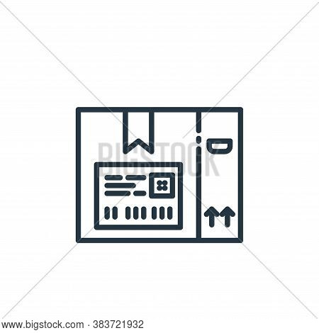 label icon isolated on white background from shipping logistics collection. label icon trendy and mo