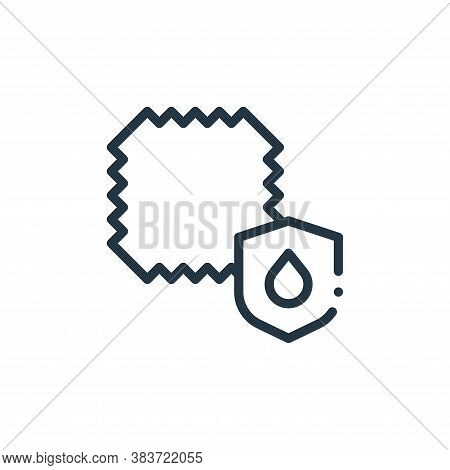 water resistant icon isolated on white background from fabric features collection. water resistant i