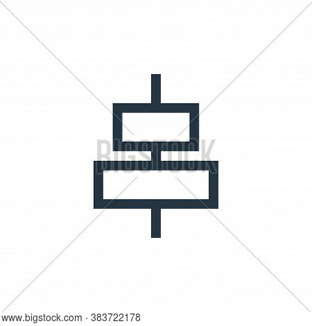 align icon isolated on white background from vector editing collection. align icon trendy and modern