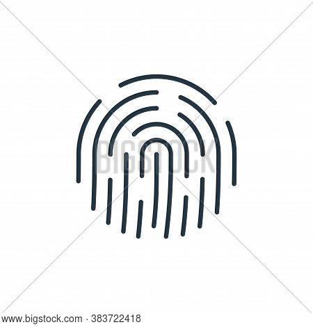 fingerprint icon isolated on white background from smarthome collection. fingerprint icon trendy and