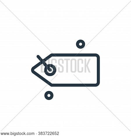 tag icon isolated on white background from miscellaneous collection. tag icon trendy and modern tag