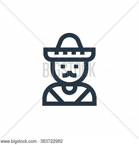 mexican icon isolated on white background from cinco de mayo collection. mexican icon trendy and mod