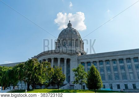 August 26, 2020 - Jefferson City, Missouri, USA: The Missouri State Capitol located in Jefferson City and it is the third capitol in the city after the other two were demolished when they were damaged