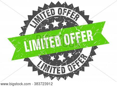Limited Offer Grunge Stamp With Green Band. Limited Offer
