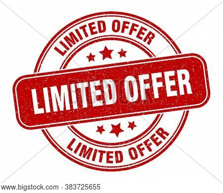 Limited Offer Stamp. Limited Offer Label. Round Grunge Sign