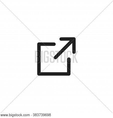 External Link Icon For Web Site Design. Arrow Flat Line Vector Icon.