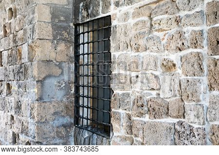 An Old Wrought Iron Lattice In The Old Town Acre. Israel.