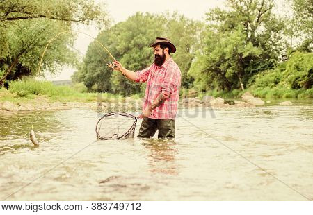 Fishing Is Astonishing Accessible Recreational Outdoor Sport. Fishing Hobby. Fishing Provides That C