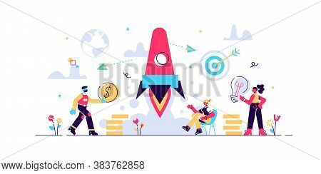 Concept Startup Launch Of A New Business For Web Page, Banner, Presentation, Social Media, Business
