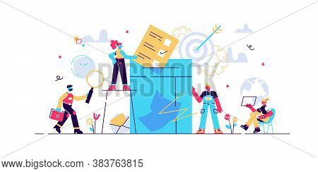 Concept Voting For Web Page, Banner, Presentation, Social Media, Documents, Cards, Posters. Vector I