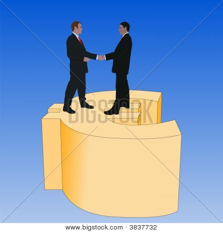 Business Men On Euro Symbol