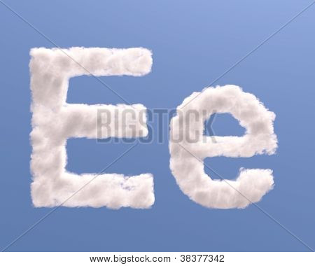 Letter E Cloud Shape