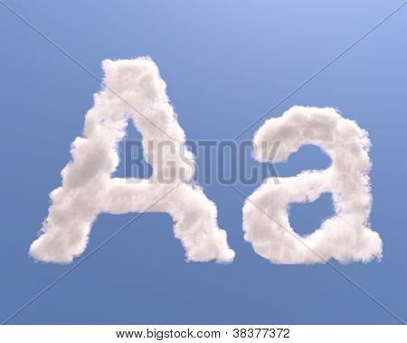 Letter A Cloud Shape