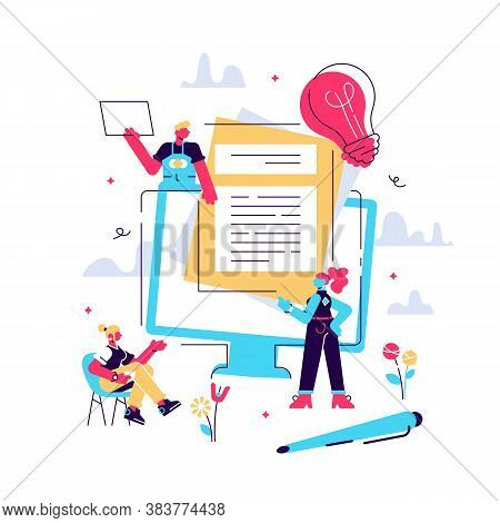 Human Resources, Recruitment Concept For Web Page, Social Media. Vector Illustration People Select A