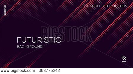 Color Gradient Background, Geometric Halftone Pattern, Vector Abstract Trendy Graphic Design. Simple