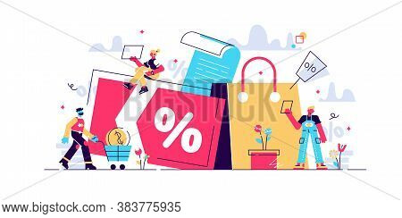 Discount And Loyalty Card, Loyalty Program And Customer Service, Rewards Card Points Concept. Vector