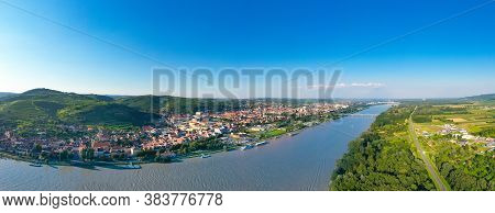Krems And Danube River. Famous Old City In Lower Austria During Summertime.