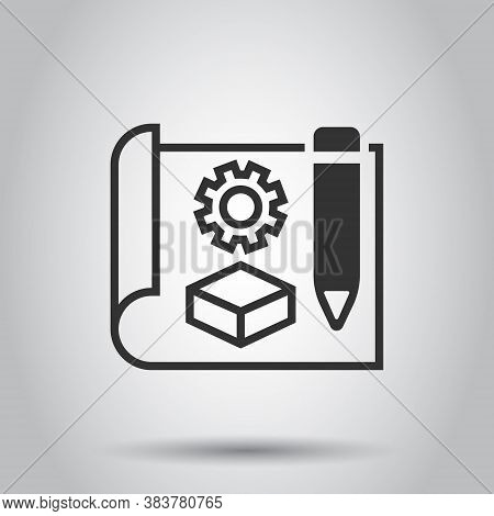 Prototype Icon In Flat Style. Startup Vector Illustration On White Isolated Background. Model Develo