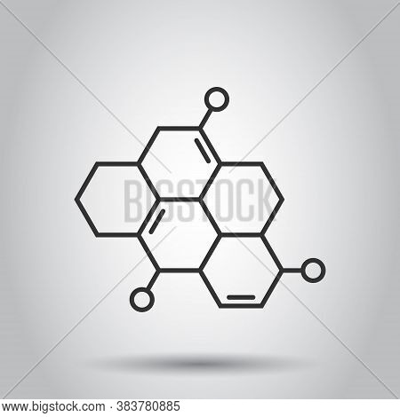 Science Icon In Flat Style. Dna Cell Vector Illustration On White Isolated Background. Molecule Evol