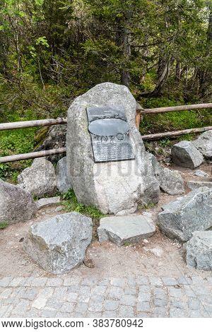Zakopane,poland-june 13,2020:stone Commemorating Defenders Of Beautiful Corner Of Poland Wladyslaw Z