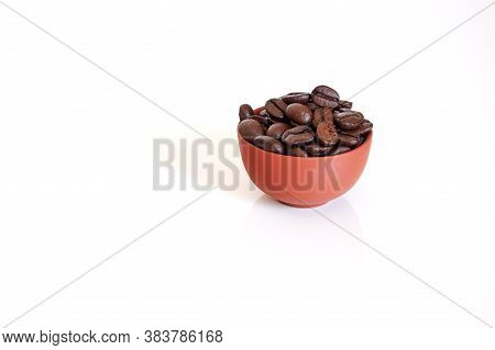 Coffee Day Background. White Fond. Copy Space.