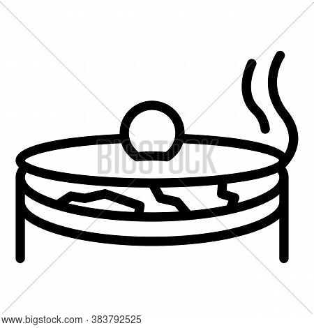 Homemade Soup Food Icon. Outline Homemade Soup Food Vector Icon For Web Design Isolated On White Bac
