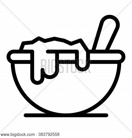 Homemade Bowl Food Icon. Outline Homemade Bowl Food Vector Icon For Web Design Isolated On White Bac