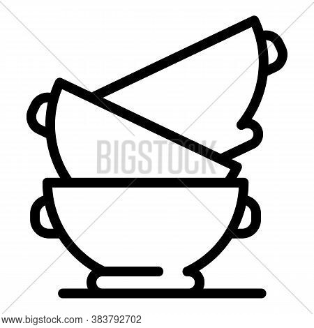 Dirt Home Bowls Icon. Outline Dirt Home Bowls Vector Icon For Web Design Isolated On White Backgroun