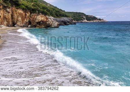 Mylopotamos Beach At Tsagarada Of Pelion In Greece