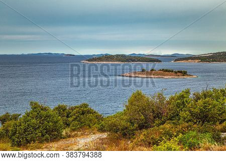 Adriatic Coast Near The Rogoznica Village, A Popular Tourist Destination On The Dalmatian Coast Of A