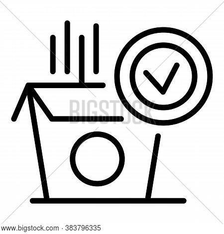 Open Delivered Parcel Icon. Outline Open Delivered Parcel Vector Icon For Web Design Isolated On Whi