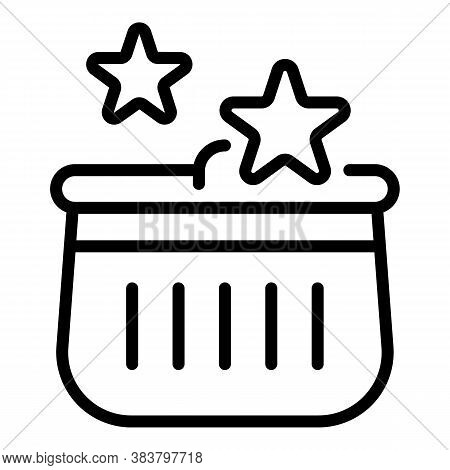 Bonus Shop Basket Icon. Outline Bonus Shop Basket Vector Icon For Web Design Isolated On White Backg