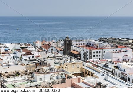 Views Of The City Of Las Palmas De Gran Canaria, Canary Islands, Spain, From The Belltower Of The Ca