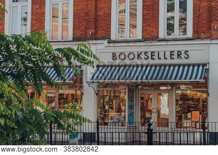 London, Uk - August 20, 2020: Facade Of A Waterstones Bookshop In Crouch End, An Area In North Londo