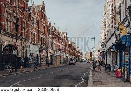 London, Uk - August 20, 2020: People On A Street In Crouch End, An Area In North London Traditionall