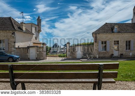 Meursault, Burgundy, France - July 9, 2020: View To The Winery In Burgundy, France