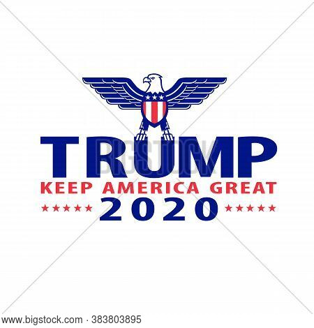 Sep 4, 2020, Auckland, New Zealand: Illustration Of Republican Donald Trump Campaign Ticket For Amer