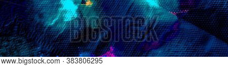 Trendy Dirty Style. Bright Cartoon Funny Background. Cosmos Dirty Sky Background. Graffitis On Walls