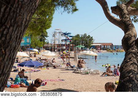 Biograd Croatia, August 2020 End Of The Summer Season In Croatia Under Covid Pandemic Situation. Hal