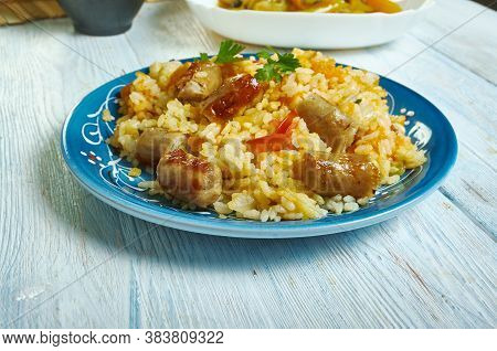 Sausage  Squash Risotto - Chopped Butternut Squash And Chipolata Sausages