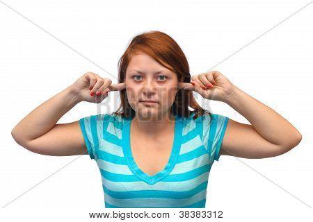 Woman Closed Ears