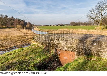 Remains Of Second World War A German Bunker At Grebbelinie Near Renswoude In The Netherlands