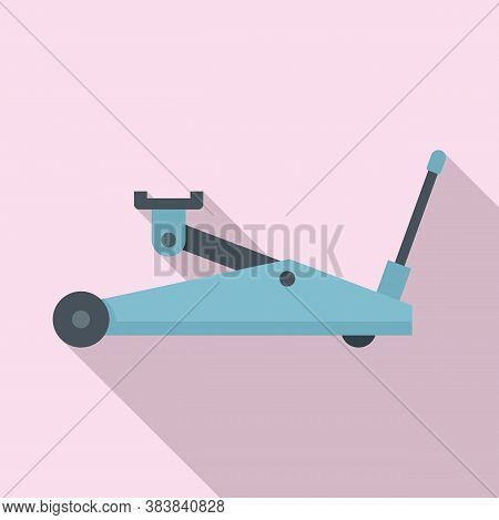 Hydraulic Jack-screw Icon. Flat Illustration Of Hydraulic Jack-screw Vector Icon For Web Design
