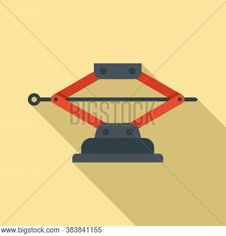 Machine Jack-screw Icon. Flat Illustration Of Machine Jack-screw Vector Icon For Web Design