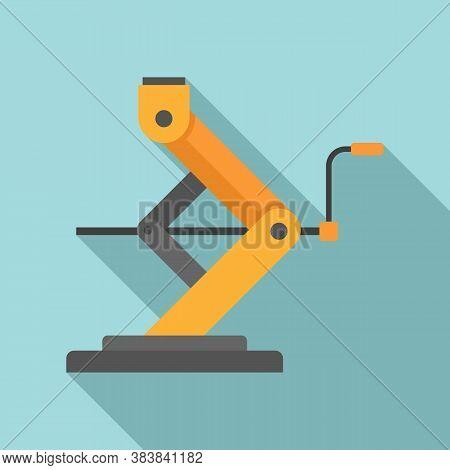 Car Service Jack-screw Icon. Flat Illustration Of Car Service Jack-screw Vector Icon For Web Design