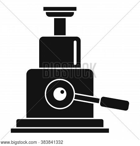 Hydraulic Car Jack-screw Icon. Simple Illustration Of Hydraulic Car Jack-screw Vector Icon For Web D