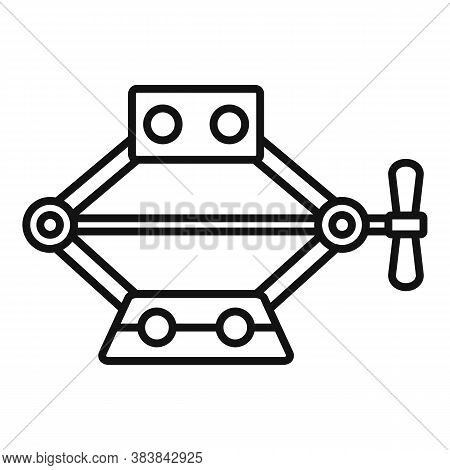 Power Jack-screw Icon. Outline Power Jack-screw Vector Icon For Web Design Isolated On White Backgro