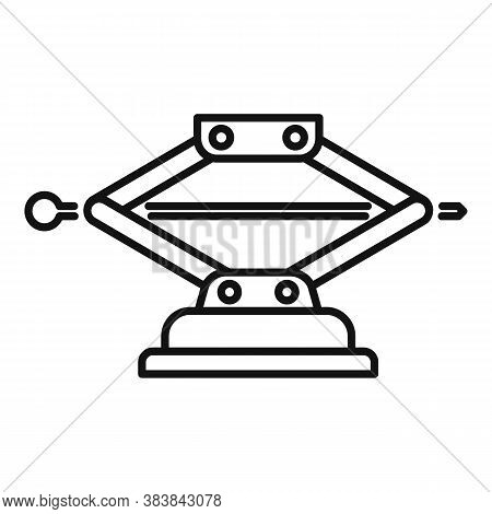 Machine Jack-screw Icon. Outline Machine Jack-screw Vector Icon For Web Design Isolated On White Bac
